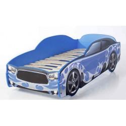 Light DG Blue - Łóżko dziecięce z materacem