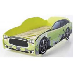 Light DG Green - Łóżko dziecięce z materacem