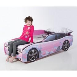Light DG Pink - Łóżko dziecięce z materacem
