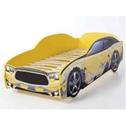 Light DG Yellow - Łóżko dziecięce z materacem