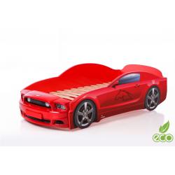 Light MG PLUS Red - Łóżko dziecięce z materacem