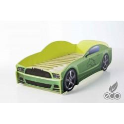 Light MG Green - Łóżko dziecięce z materacem