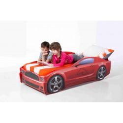 Light MG Red - Łóżko dziecięce z materacem