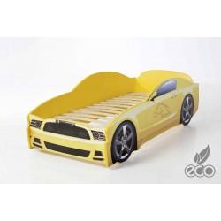 Light MG Yellow - Łóżko dziecięce z materacem
