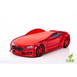 Neo Beta Red - 3D Łóżko dziecięce z materacem
