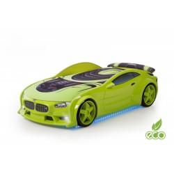 Neo Beta Green - 3D Łóżko dziecięce z materacem