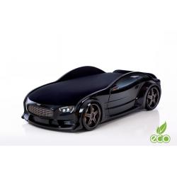 Neo Volt Black- 3D Łóżko dziecięce z materacem