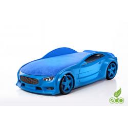 Neo Volt Blue - 3D Łóżko dziecięce z materacem