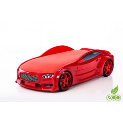 Neo Volt Red - 3D Łóżko dziecięce z materacem