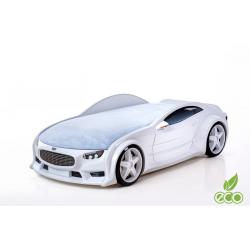 Neo Volt White  - 3D Łóżko dziecięce z materacem
