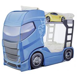 Truck 2 Blue  - Łóżko dziecięce z materacami