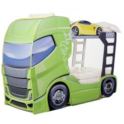 Truck 2 Green - Łóżko dziecięce z materacami
