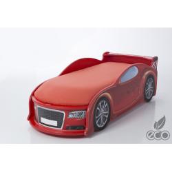 Uno Alfa S4 Red - Łóżko dziecięce z materacem
