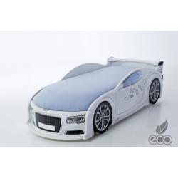 Uno Alfa S4 White - Łóżko dziecięce z materacem