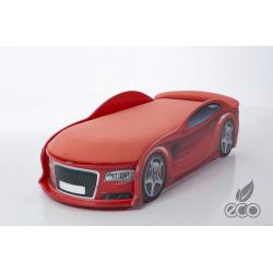 Uno Alfa S6 Red- Łóżko dziecięce z materacem