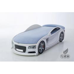 Uno Alfa S6 White - Łóżko dziecięce z materacem