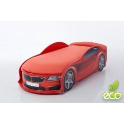 Uno Beta Red - Łóżko dziecięce z materacem