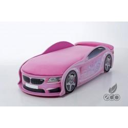 Uno Beta Pink - Łóżko dziecięce z materacem