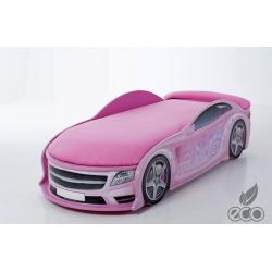 Uno Star Pink - Łóżko dziecięce z materacem