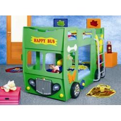 HAPPY BUS - Łóżko dziecięce z materacem