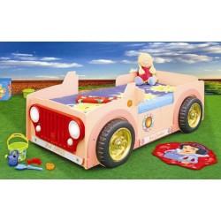 JEEP PINK - Łóżko dziecięce z materacem