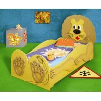 LEW MAŁY - Łóżko dziecięce z materacem