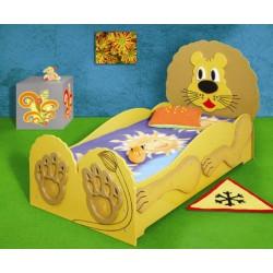LEW DUŻY - Łóżko dziecięce z materacem