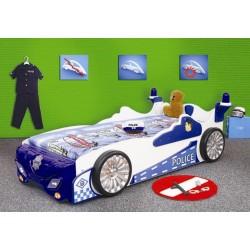 POLICJA - Łóżko dziecięce z materacem