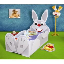 ZAJĄCZEK - Łóżko dziecięce z materacem