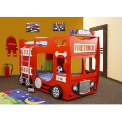 STRAŻ piętrowa - Łóżko dziecięce z materacem
