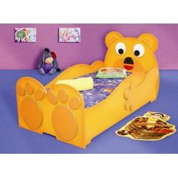 MIŚ DUŻY - Łóżko dziecięce z materacem