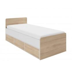 PARYS – Łóżko 90 x 200 cm z pojemnikiem