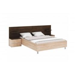CARMEN S – Łóżko z szafkami nocnymi 160 x 200 cm