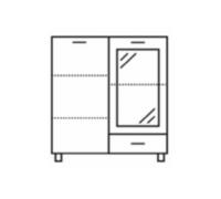 TOMEK TWIT2D1SZ - Witryna front pełny 80 x 130  (T10)