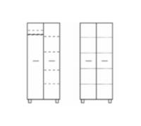 TOMEK TSZAFA 90 x 191  - półki (T20)