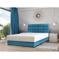 Łóżko MAJORKA 140 / 205 z pojemnikiem z materacem z paneli ułożonych symetrycznie (jeden pod drugim)