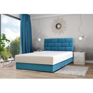 Łóżko MAJORKA 140 / 205 z pojemnikiem z materacem ( z paneli ułożonych w cegiełkę )